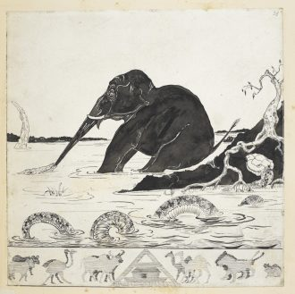 Autograph printer's copy of 'The Elephant's Child', Just So Stories. Illustrations by Rudyard Kipling © British Library Board