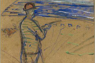 Henri de Toulouse-Lautrec Monsieur Tapié de Celeyran a caccia  Matita e gouache su carta, 24 x 30 cm Toulouse, Fondation Bemberg