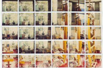 Casa di Frida Kahlo, Lo studio di Frida, Coyoacan, 2002Mosaico di 30 Polaroid, Formato cm 42,5X58,8