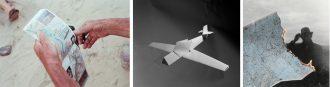 Da sinistra: Andrew Phepls, From Cubic Feet/Sec 1979-2013 Fotohof, 2015 - Sjoerd Knibbler, Paper Planes, FW: Books 2015 - Cristina De Middel, Man Jayen, Trama editorial & Museo de la Universidad de Navarra, 2015