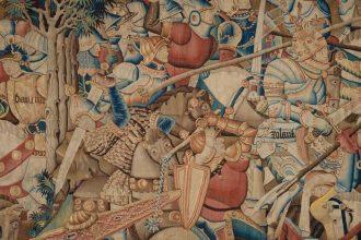 La battaglia di Roncisvalle, c. 1450-75 Londra, Victoria and Albert Museum - Particolare