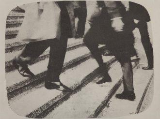 Mimmo Rotella, 1918 – 2006 Vieni e vai, 1965 mec-art su tela, 50 x 80 cm.  Courtesy Frittelli arte contemporanea, Firenze