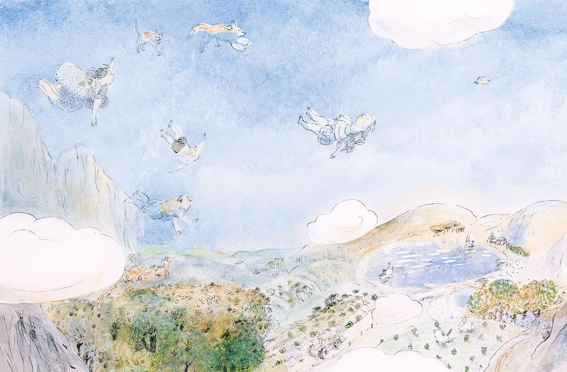 Il volo della famiglia Knitter, testo Guia Risari, ill. Anna Castagnoli, Bohem Press edizioni 2016.