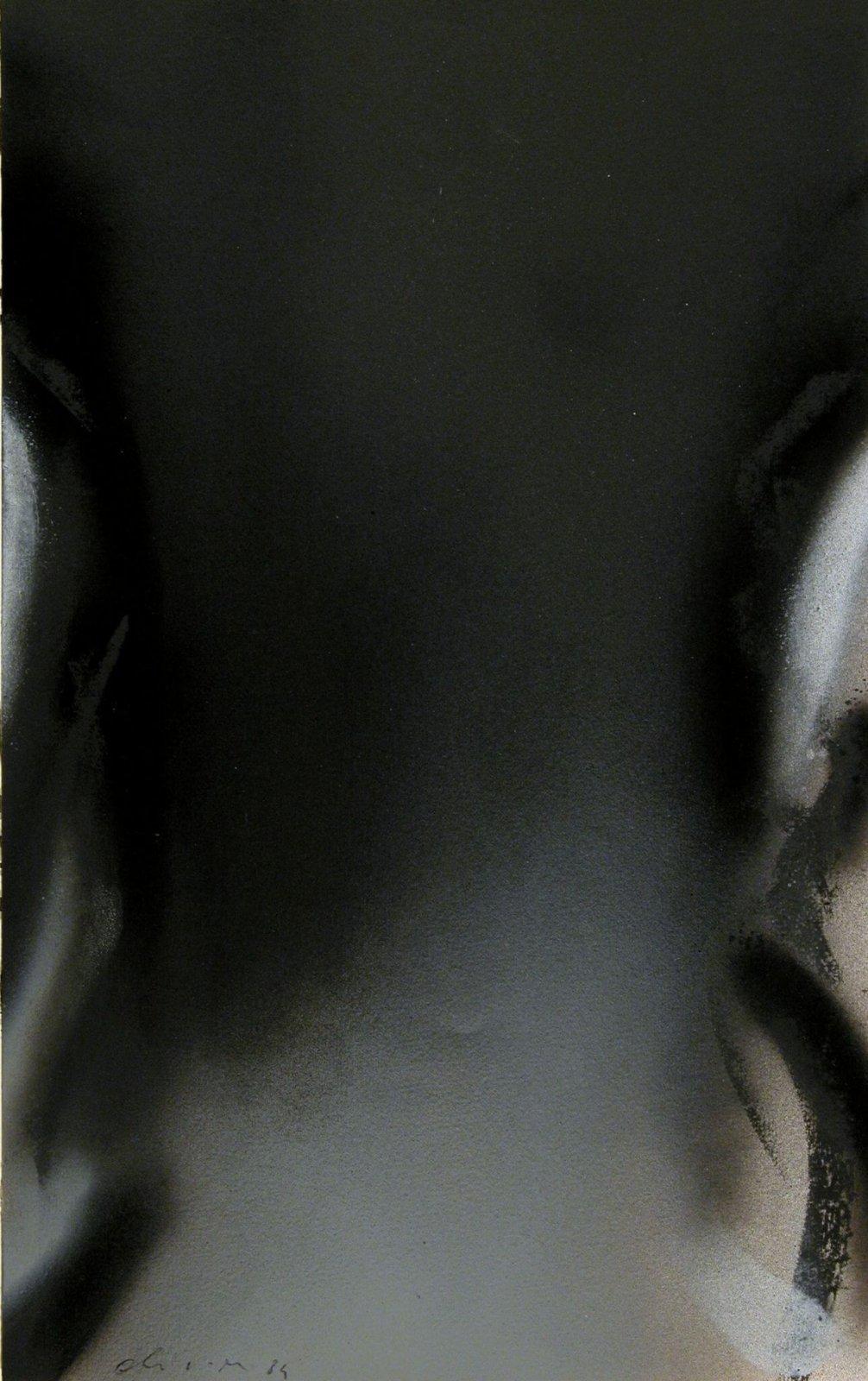Claudio Olivieri, Senza titolo, 1984, acrilico e carboncino su carta, 325 x 205 mm, Collezione Galleria Civica di Modena.