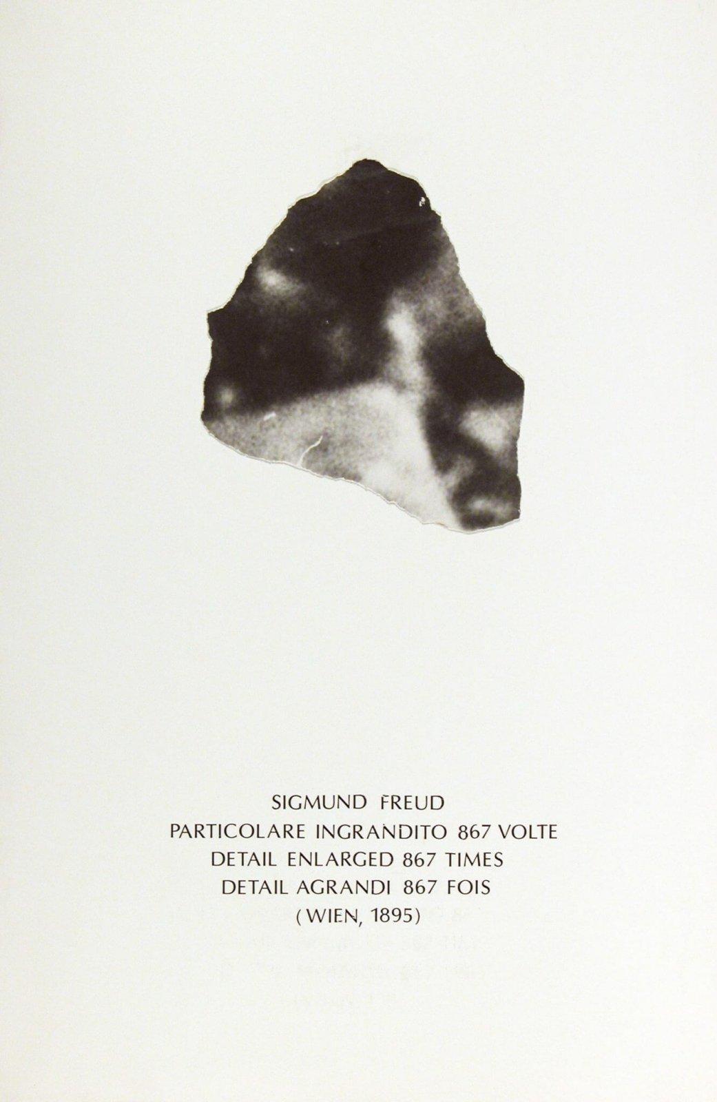 Emilio Isgrò, Particolare per Alfabeta, 1983, collage su cartone, 397 x 260 mm, Collezione Galleria Civica di Modena