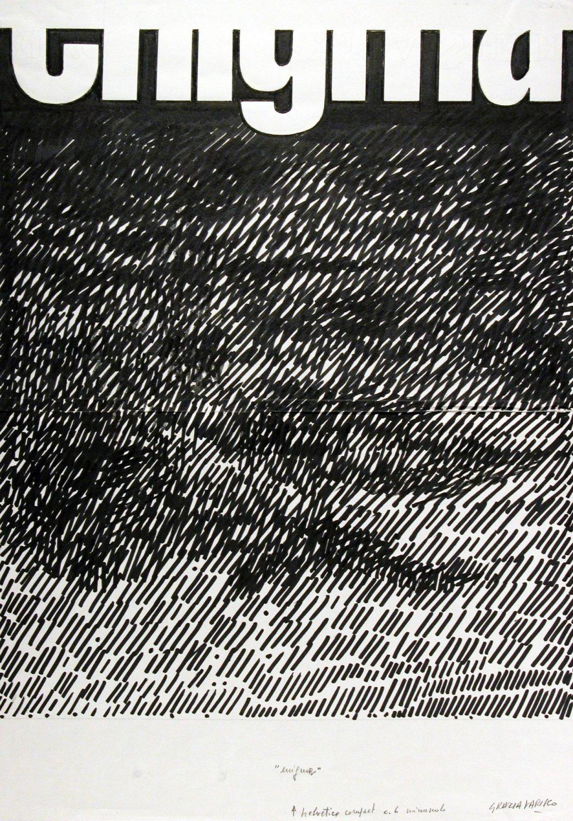 Grazia Varisco, Enigma, 1985, pennarello su carta, 420 x 296 mm, Collezione Galleria Civica di Modena