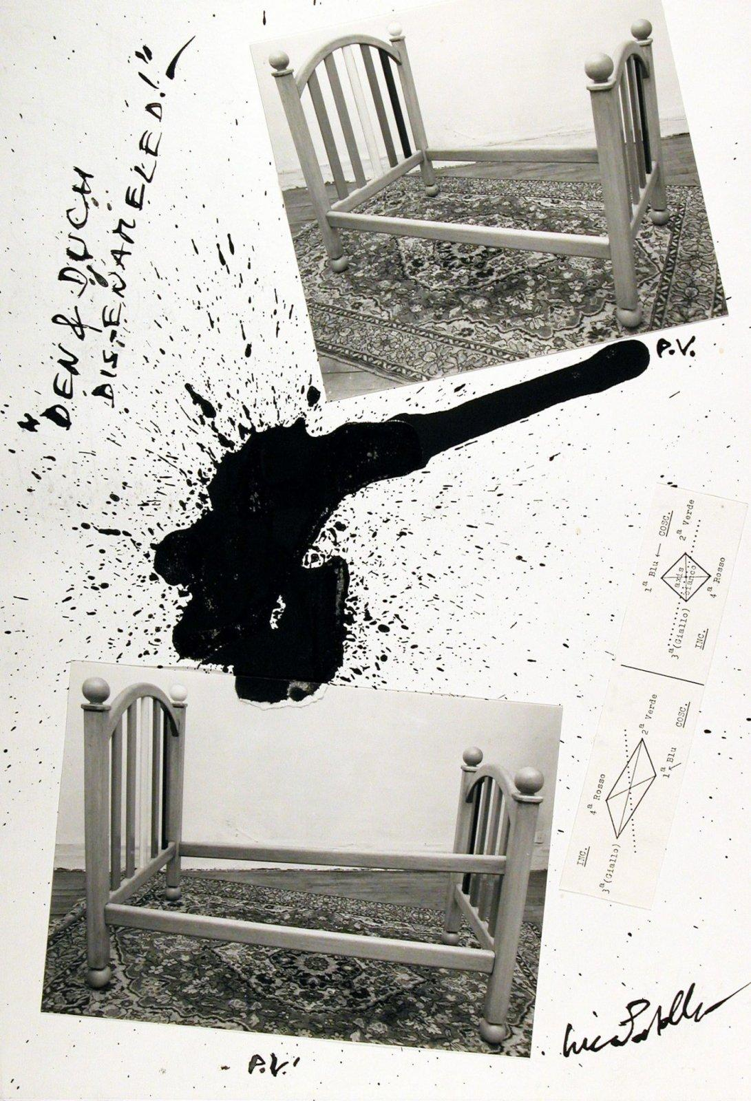 Luca Patella, Dem&Duch Dis-Enameled!, 1986, collage, 377 x 260 mm, Collezione Galleria Civica di Modena.