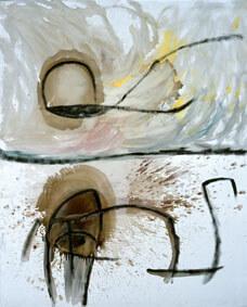 Joan Miró Untitled, Undated Oil on canvas, 162,3x131 cm © Successió Miró by SIAE 2017 Archive Fundació Pilar i Joan Miró a Mallorca © Joan Ramón Bonet & David Bonet