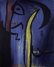 Joan Miró Untitled, 1974 ca Acrylic on canvas, 162,5x130,5 cm © Successió Miró by SIAE 2017 Archive Fundació Pilar i Joan Miró a Mallorca © Joan Ramón Bonet & David Bonet