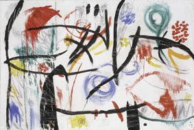 Joan Miró Untitled, 1968-72 Oil, acrylic, charcoal and chalk on canvas 130,6x195,5 cm © Successió Miró by SIAE 2017 Archive Fundació Pilar i Joan Miró a Mallorca © Joan Ramón Bonet & David Bonet