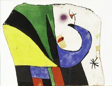 Joan Miró Maqueta para Gaudí X /Maquette for Gaudí X, 1975 [ca] Gouache, ink, pencil, pastel and collage on paper, 30,2x25,2 cm © Successió Miró by SIAE 2017 Archive Fundació Pilar i Joan Miró a Mallorca © Joan Ramón Bonet & David Bonet